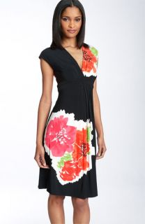 Maggy London Print Matte Jersey Dress