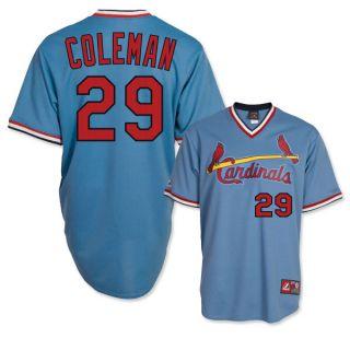 Vince Coleman St Louis Cardinals Cooperstown Blue Away Jersey Sz M 2XL