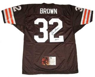 Jim Brown Signed Auto HOF 71 Cleveland Browns TB Jersey