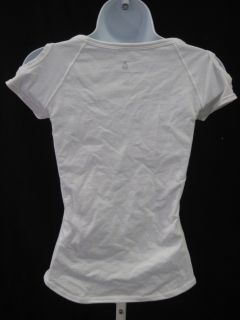Como Shambhala White Cotton Cut Out T Shirt Blouse Sz S