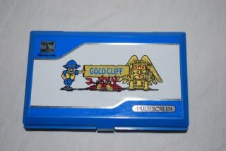 Vintage Nintendo Gold CLIFF Game & Watch MV 64 Game Tested RARE