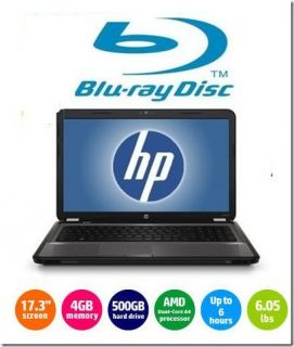 Brand New HP 17 3 LED Laptop Dual Core Blu Ray DVD 4GB RAM 500 GB HD