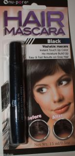 Hair Mascara Black instant hair color touch up for gray hair washable