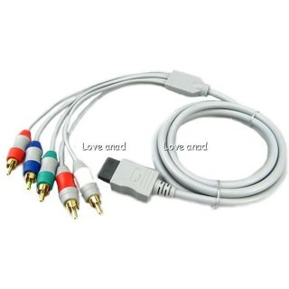 Component HD HDTV AV Adapter Cable Audio Video 5 RCA for Nintendo Wii