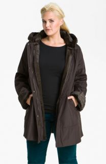 Marc New York by Andrew Marc Leona Faux Fur Lined Storm Coat (Plus)
