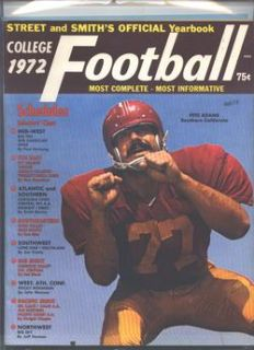 1972 Street Smiths College Football Yearbook Cover Pete Adams USC