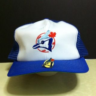 Toronto Blue Jays MLB Baseball Cap w Collectible Pin in EX Cond