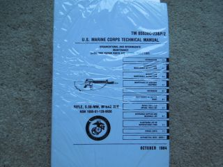 USGI Marine Corps Tech USMC Manual Colt AR Rifle 15