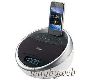 iHome IA17W Glowtunes Alarm Clock Radio for iPod iPhone