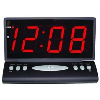 inch Jumbo Digital Red LED Desk Wall Alarm Clock