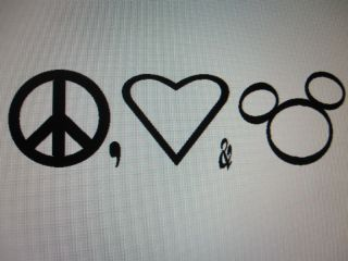 Mickey Mouse Peace Love Mickey Decal Sticker