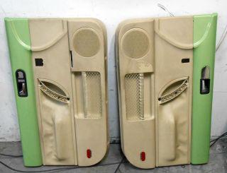 VOLKSWAGEN VW BEETLE INTERIOR DOOR PANEL PANELS RH LH GREEN 98 05
