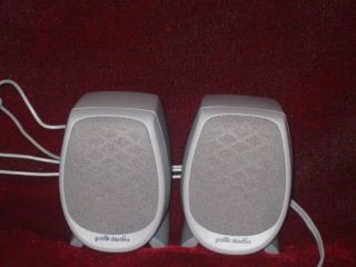 Pair Polk Audio PC Monitor Speakers Used Fast SHIP