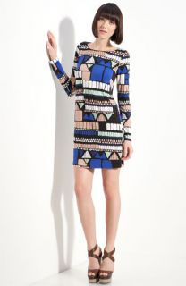 Tibi Geo Print Jersey Shift Dress