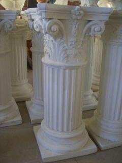 Colonna in Polvere Di Marmo Colonne Tavolo Pietra Vaso