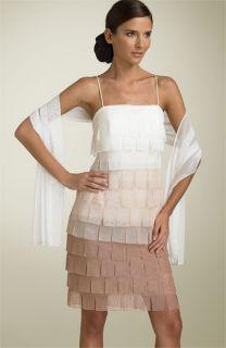 JS Collections Beaded Chiffon Flapper Dress
