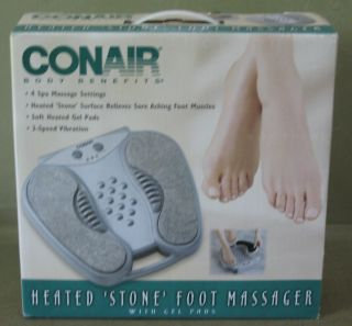 Conair Body Benefits Heated Stone Foot Massager with Spa Massage FM6