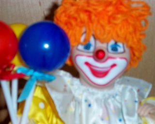 Telco Animated Motion ette Bozo Clown Birthday Musical Doll