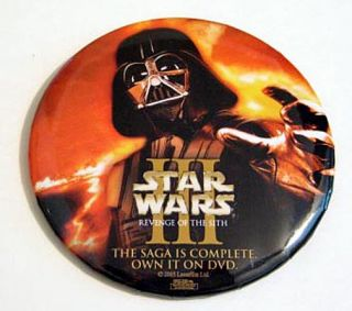 description star wars episode 3 rots promo dvd release button