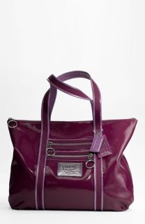 COACH POPPY PATENT GLAM TOTE