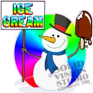 14 Ice Cream Truck Cart Concession Trailer Bar Food Restaurant Vinyl