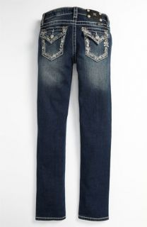 Miss Me Embellished Pocket Skinny Jeans (Big Girls)