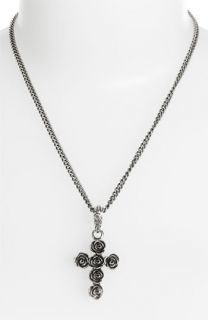 Queen Baby Rose Cross Pendant Necklace