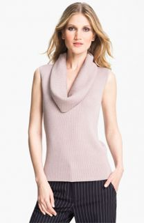 St. John Collection Cowl Neck Rib Knit Shell