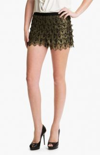 Haute Hippie Gilded Peacock Lace Shorts