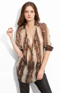 Haute Hippie Snake Print Silk Tunic