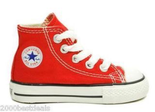Converse Shoes Chuck Taylor Baby Boys 7J232 Red Top Canvas All Star