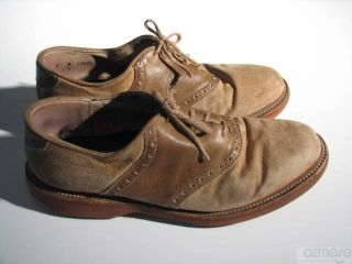 vtg colours alexander julian saddle oxford buck shoe 8