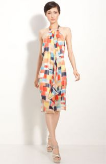 Alice + Olivia Addison Silk Halter Dress