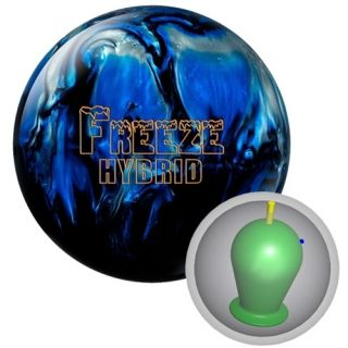15 Columbia 300 Freeze Hybrid Bowling Ball Black Blue Silver