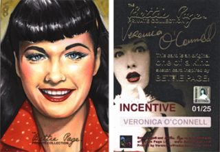 Private Collection Dealer Incentive Sketch Card Veronica OConnell