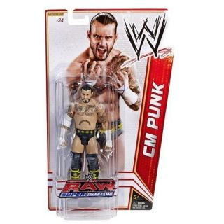 Cm Punk WWE Mattel Basic Series 18 Action Figure Toy 34