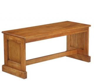 Home Styles Distressed Oak Finish Dining Bench —