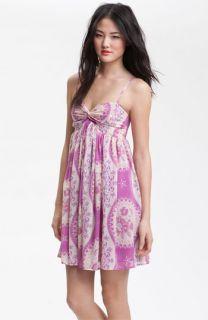 Free People Twist Print Chiffon Dress