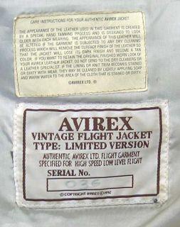 Vtg Avirex A 2 Marilyn Monroe Leather Flight Jacket L 1992 Bernard of