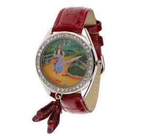 As Is Smithsonian Wizard of Oz Ruby Slippers Watch   J269413