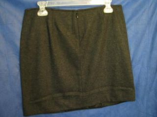 Cabi ANDYS SKIRT Coal/Black/Gray WOOL BLEND Lined CENTER PLEAT $89 sz