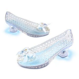 Disney Princess Cinderella Light Up Shoes 9 10 Girls Dress Up