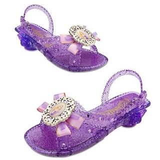 Disney Deluxe Tangled Rapunzel Light Up Princess Shoes Girls 7 8