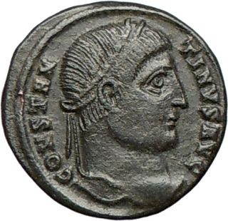 Constantine I The Great 324AD Authentic Genuine Ancient Roman Coin
