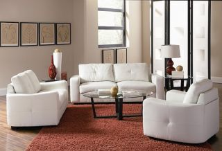 Coaster Furniture Bonded Leather Complete Living Room Sofa Couch