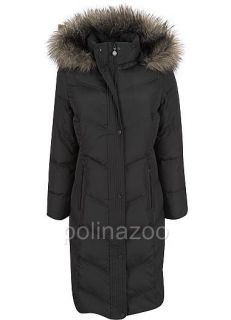 Calvin Klein Coat Faux Fur Hooded Puffer Flax Down Jacket Maxi Coat