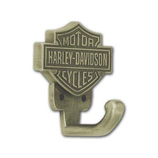 DAVIDSON® BAR & SHIELD ANTIQUE BRASS COAT/HARDWARE HOOK HDL 10106 NEW