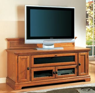 Modern Style Wood Honey Oak TV Stand Media Center Living Room