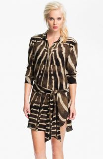 Haute Hippie Print Silk Shirtdress