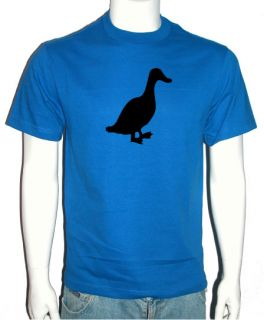 COOL DUCK T SHIRT RETRO FUNNY VINTAGE TEE ROYAL